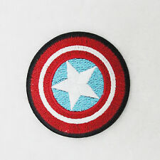 Shield of Super Hero Captain America Embroidered Applique Iron On Patch for Diy