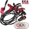 MTB Bike Hydraulic Disc Brakes Calipers 160/180/203mm 6 Bolts Disc Brake Rotor