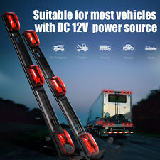 2x Red Bright Led ID Bar 3 Led Marker Light Truck RV Trailer Bus Clearance Light
