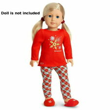 "NEW American Girl Holiday Dreams Pajamas Red PJs for 18"" Blaire Doll NIB RETIRED"