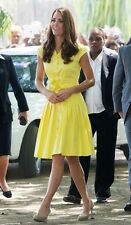 Jaeger Yellow Dress, Size 16, As Seen On