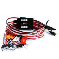 1:10 RC Modell Auto LKW LED Licht Kit 12 LED Blink Licht Lampen System RC 1 F3V1