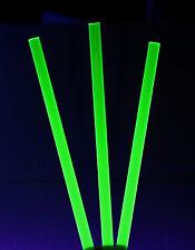 "5 PCS 1/2"" DIAMETER CLEAR GREEN FLUORESCENT ACRYLIC PLEXIGLASS ROD 12"" INCH LONG"