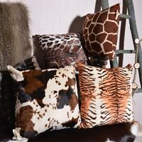 Cowhide Zebra Print Pillow Pillowcase Decorative Cushions COVER Handmade THROW