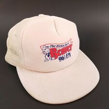 Vintage The Hitkicker Beaver 96.5 FM White Snapback Trucker Hat Cap By Sportcap