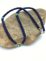 Native American Lapis Lazuli Multicolor Sterling Silver Necklace 22in 2920