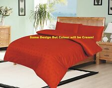 Embroidered Duvet Quilt Cover 200TC 100% COTTON SATIN SET! Clearance Price!
