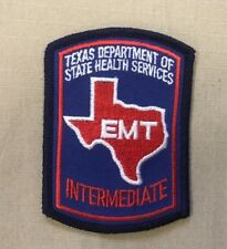 INTERMEDIATE EMT PATCH TEXAS DEPARTMENT OF STATE HEALTH SERVICES SMALL CAP