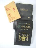 "1942 Military Missal + 1966 New Saint Joseph Children's Missal with Hymns 4-5.5"""