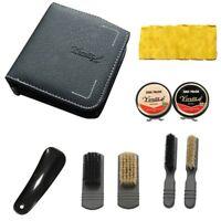 9Pcs Boot Shoe Care Set Leather Brush Cloth Shine Polish Buffer Cleanning Set