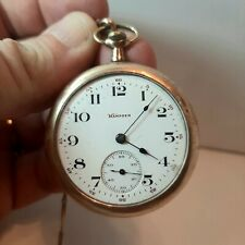 Lovely Vintage 1920s-1930 Hampdon GF Pocket Watch with chain