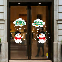 Merry Christmas Window Wall Sticker Decoration Decal Home Decor Xmas 2Pcs