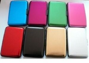 4pcs Aluminum Wallet Metal Business ID Holder Credit Card Case waterproof box