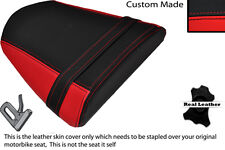 RED & BLACK CUSTOM FITS RIEJU RS2 125 REAR LEATHER SEAT COVER ONLY