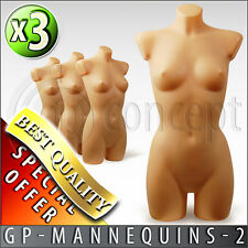 FEMALE MANNEQUIN - Cup B - DISPLAY DUMMY TORSO, BUST - Full body with back - HQ