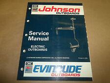 1992 Johnson Evinrude Electric Outboard Service Manual OEM Boat 92
