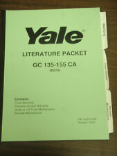 Yale Literature Packet For Industrial Lift Truck/Forklift GC 135-155 CA (B879)