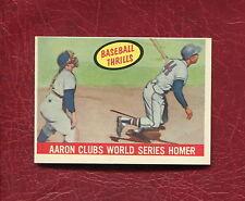 1959 TOPPS #467 HANK AARON CLUBS WORLD SERIES HOMER SET BREAK NMMT+ / MINT