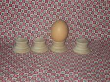 6 UNFINISHED WOODEN EGG STANDS *NEW* Wood Marble Ball Hardwood Display Cup