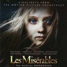 LES MISERABLES: HIGHLIGHTS FROM THE MOTION PICTURE FILM SOUNDTRACK CD NEW