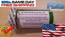 100 Capsules Dog 75+lbs Rapid Flea Control Killer Pure Nitenpyram Capstar 57mg