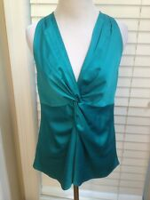 Ann Taylor Teal Blue Green Satin blouse Top Size 4 * New With Tags $68
