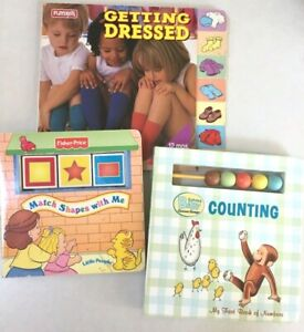 PreK Books: Curious George Baby Counting, Getting Dressed, Match Shapes with Me