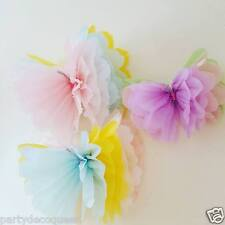 wedding party girls birthday party decorations 3 tissue paper butterflies