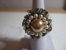 Handmade Pearl Round Costume Rings