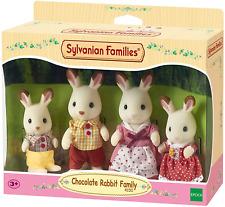 Sylvanian Families Chocolate Coniglio Famiglia Set Giocattolo Bambola Vestiti tessuto sfoderabile