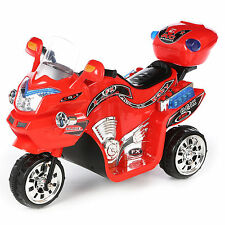 3 Wheel Motorcycle Ride On Toys Red Bike 6V Battery Powered Car for Kids to Ride