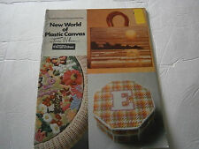 Vtg 1977 New World of Plastic Canvas Pattern Book 16 Designs Tote Purse Chair