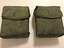 A PAIR OF UNISSUED G.I  200 ROUND SAW MAGAZINE AMMO CASE/DUMP POUCHES (2)
