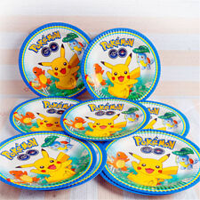 POKEMON PLATES PIKACHU BIRTHDAY PARTY 10 PACK (18 CM) DECORATIONS LOOT LOLLY