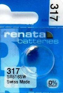 317 RENATA SR516SW SR516W WATCH BATTERIES New packaging Authorized Seller