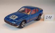 Majorette 1/60 Nº 247 Porsche 924 Coupé blaumetallic #211