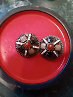 Chanel lot of two multycolor enamel buttons  24 mm