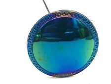 """Antique Hatpin Super Shine """"Butler's Mirror"""" Carnival Glass Beauty.Collectible"""