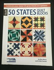 NEW!   50 STATES Quilt Blocks & CD - by Rita Weiss and Linda Causee