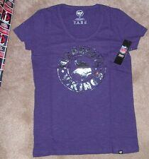 5d86a77f NEW NFL Minnesota Vikings T Shirt L Large 47 Brand Women Ladies Foil NEW NWT