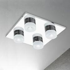 WOFI lámpara LED de techo LOGAN 4 Lámparas Cromado Plástico regulable 16,8