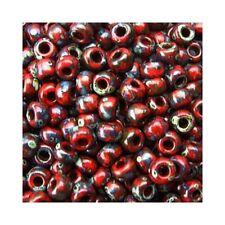 Miyuki Seed Beads 11/0 Matte Picasso Garnet Red 11-4513 23g Round Rocaille