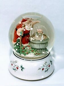"Pfaltzgraff Christmas Musical Snow Globe ""I'll Be Home"" Small Globe Inside"