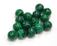 Malachitgrün Perlen 8mm Kugel Synthetischer Schmuckperlen 18 Stk R302
