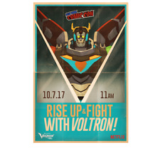 VOLTRON LEGENDARY DEFENDER NYCC 17 EXCLUSIVE VOLTRON POSTER  BNIB