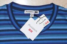 J.W. ANDERSON x UNIQLO 'JWA Striped' SS Cotton T-Shirt Men's SMALL Blue **NWT**