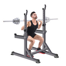 Barbell Rack Stand Weight Lifting Rack Adjustable Squat Rack Dipping Station