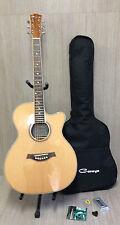 "40"" Caraya F-560CEQ/N Jumbo Acoustic Guitar w/EQ, Cutaway   Free Gig Bag, Picks"