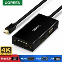 Ugreen Mini DisplayPort DP Thunderbolt 2 to HDMI DVI VGA Adapter Converter Fr TV