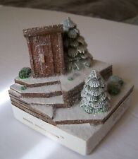 """Cades Cove Figurine, """"Necessary House"""" In The Winter 1431/3500 Signed by Artist"""